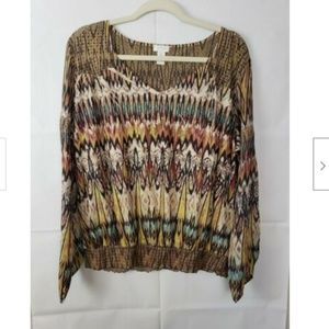 Chico's Long Sleeve Aztec Blouse